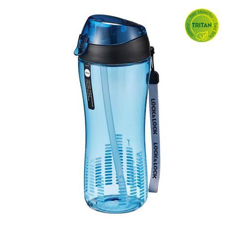 LOCK&LOCK | Sportovní láhev lock 550 ml se silikonovým brčkem - modrá