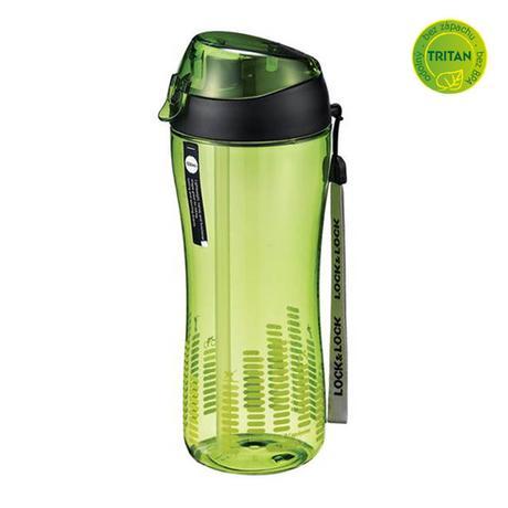 LOCK&LOCK | Sportovní láhev lock 550 ml se silikonovým brčkem - zelená