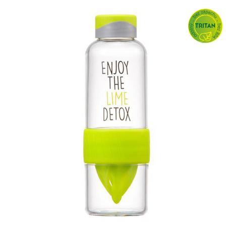 "Láhev na vodu ""Bisfree Detox"", 520 ml, zelená"