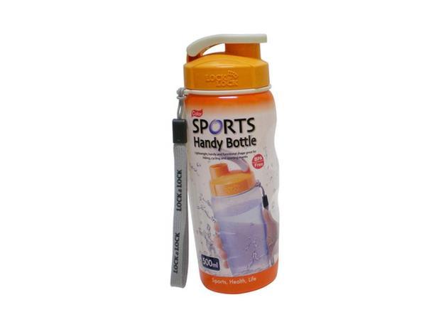 LOCK&LOCK | Plastová láhev na pití 500 ml - oranžová