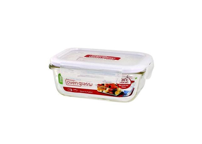LOCK&LOCK | Dóza na potraviny Lock, sklo/plast, obdélník, 380 ml