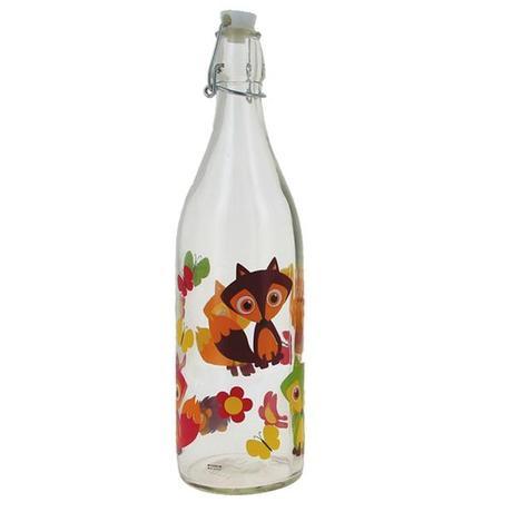 CERVE | Skleněná láhev s patentním uzávěrem, 1 litr, liška