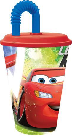 "Disney | Kelímek s brčkem ""Auta Disney"", 430 ml, plast"