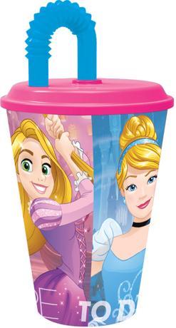 "Disney | Kelímek s brčkem ""Princezna"", 430 ml, plast"