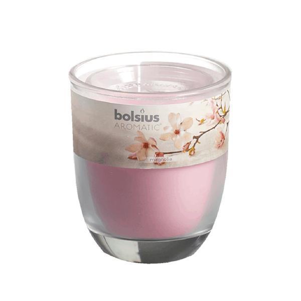 svíčka ve skle magnolie, 7 x 7,9 cm