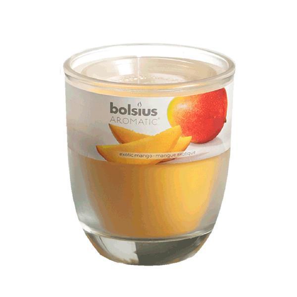 svíčka ve skle mango, 7 x 7,9 cm