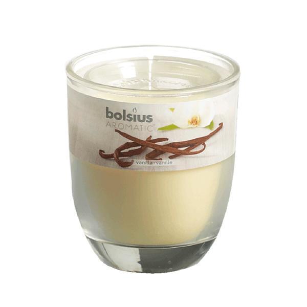 svíčka ve skle vanilka, 7 x 7,9 cm
