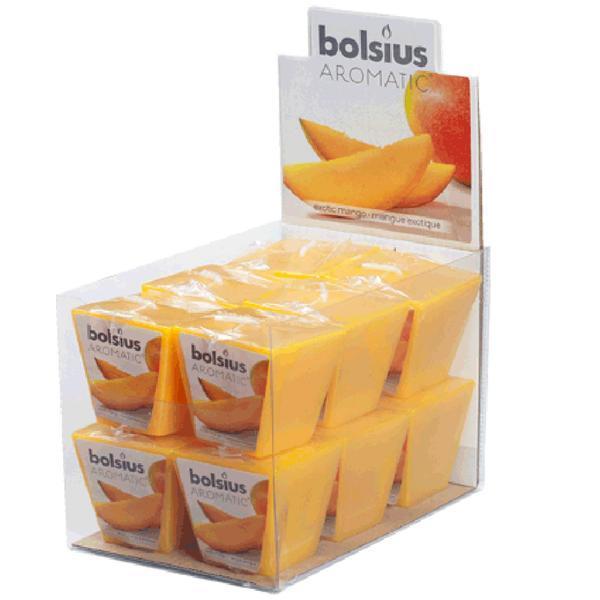 Svíčka čtvercová mango, 4, 7 x 4, 7 x 4, 7 cm