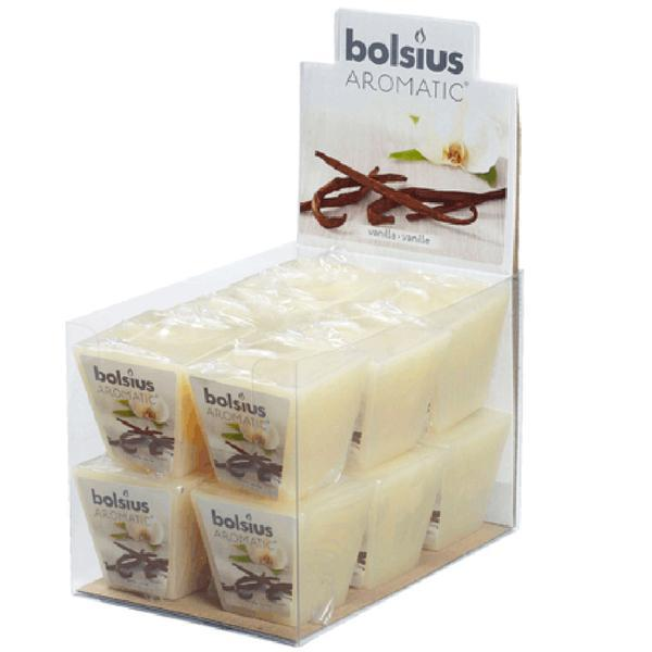 Svíčka čtvercová vanilka, 4, 7 x 4, 7 x 4, 7 cm