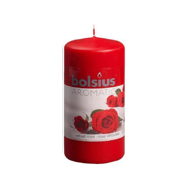Svíčka válce růže, 5,9 x 12,1 cm
