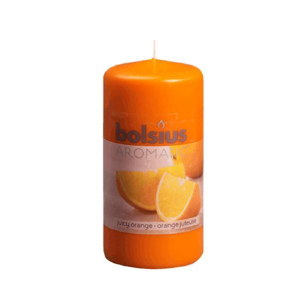 Svíčka válce pomeranč, 5,9 x 12,1 cm