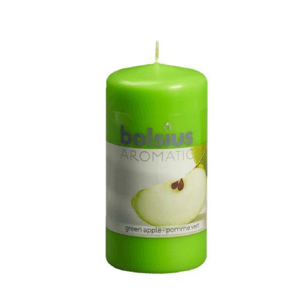 Svíčka válce jablko, 5,9 x 12,1 cm