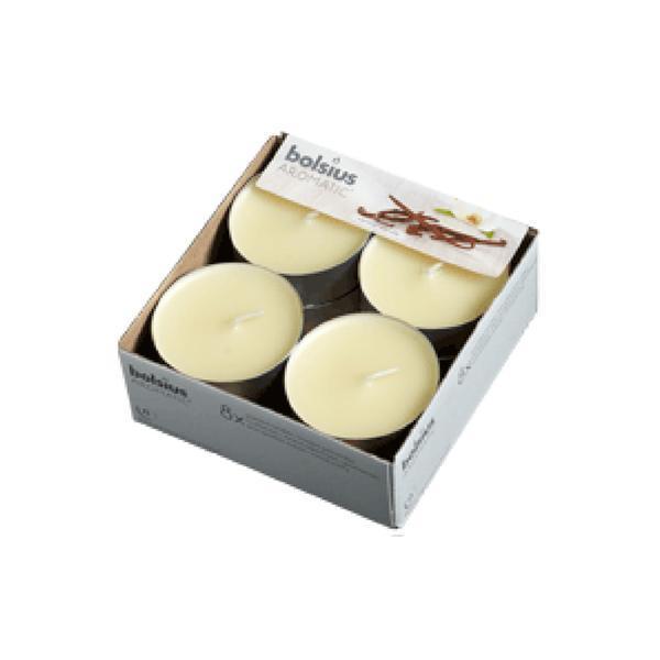 Svíčka čajová velká vanilka, set 8 ks, 5,7 x 2,1 cm