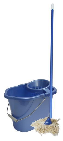 Porvázkový mop a oválný kbelík MISTER, objem 14 l, 24,5 x 37 x 26 cm