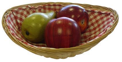 košíček proutěný oválný s látkou 16 x 24 x 6,2 cm
