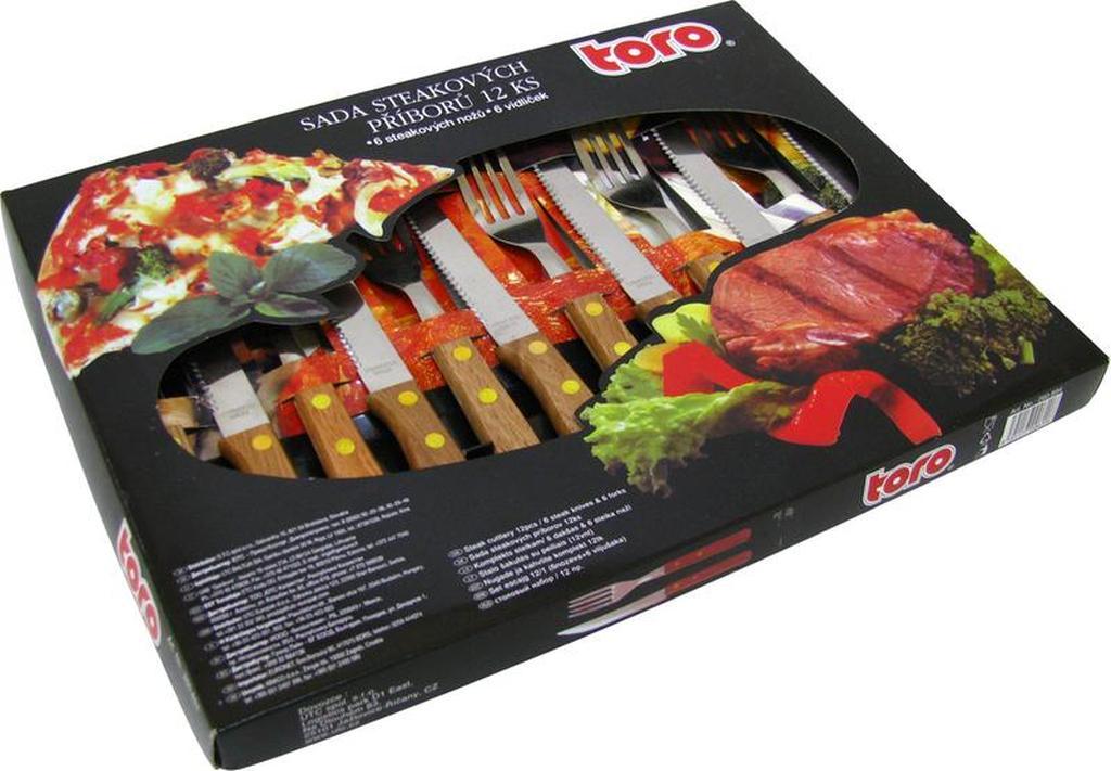Sada steakových příborů pro 6 osob, 20 x 2, 3 cm a 21 x 1, 5 cm