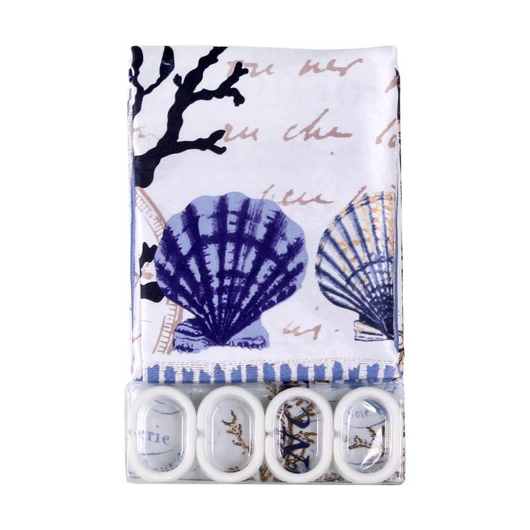 Sprchový závěs textilní se vzorem 180x180 cm