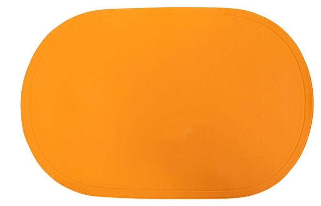 Prostírání ovál oranžové, 29 x 44 cm