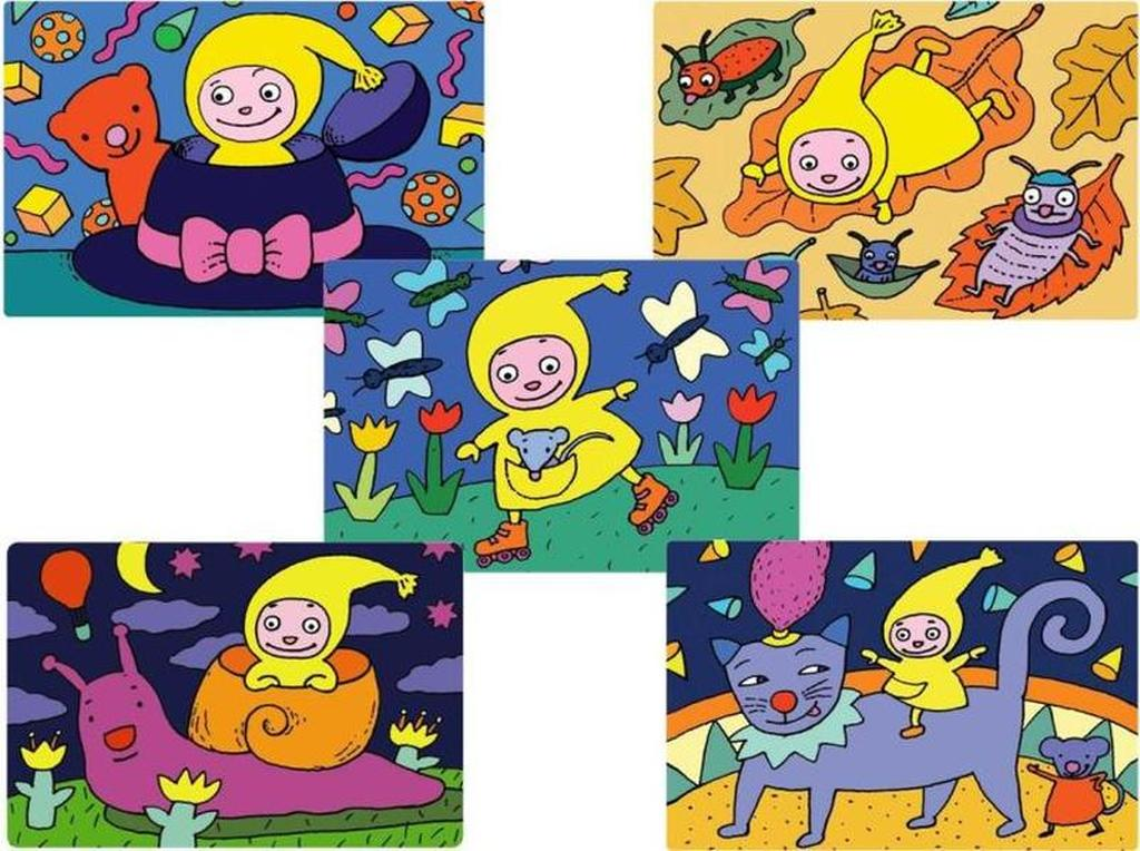 Prostírání dětské, Kouzelná školka, 4 designy, 28,5 x 43,5 cm