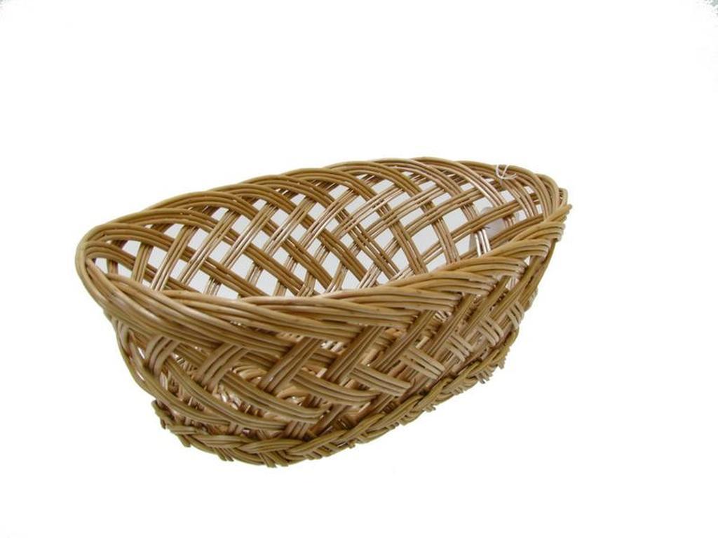 košíček proutěný oválný, 25 x 16,5 x 8,5 cm