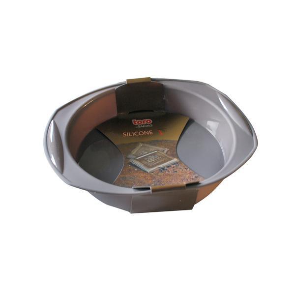 Forma kulatá silikon, šedo-hnědá