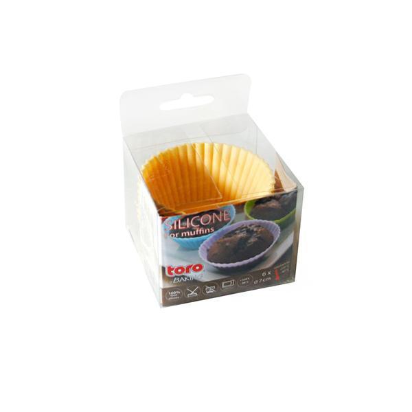 Forma silikon košíčky na muffiny 6ks,krémová