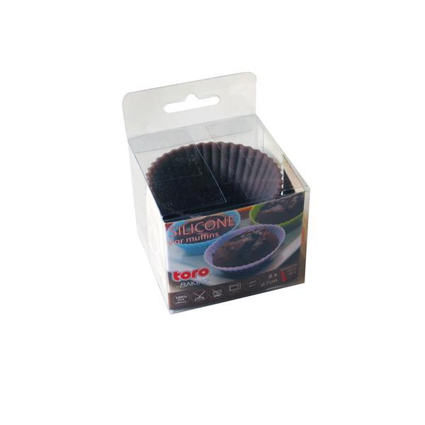 Forma silikon košíčky na muffiny 6ks, šedo-hnědá