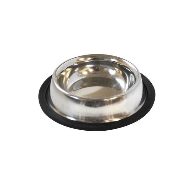 Miska pro zvířata s protiskluzovou gumou, nerez, 15 cm