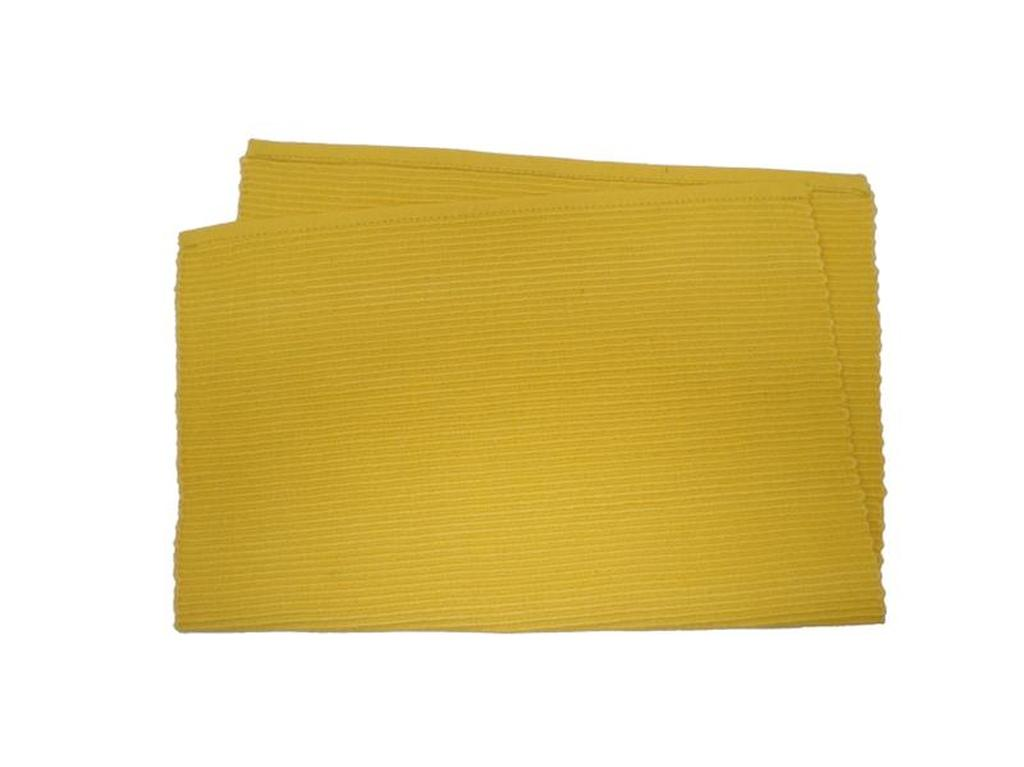 Prostírání žebrovaný profil žlutá, 33 x 45 cm