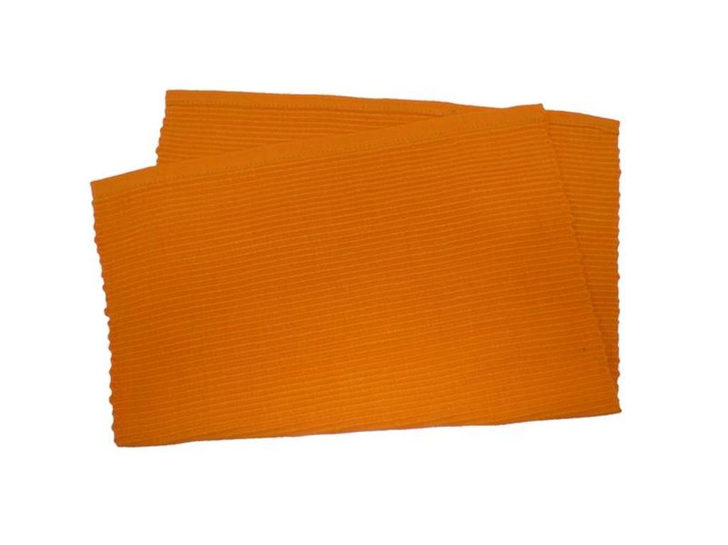Prostírání žebrovaný profil oranžová, 33 x 45 cm