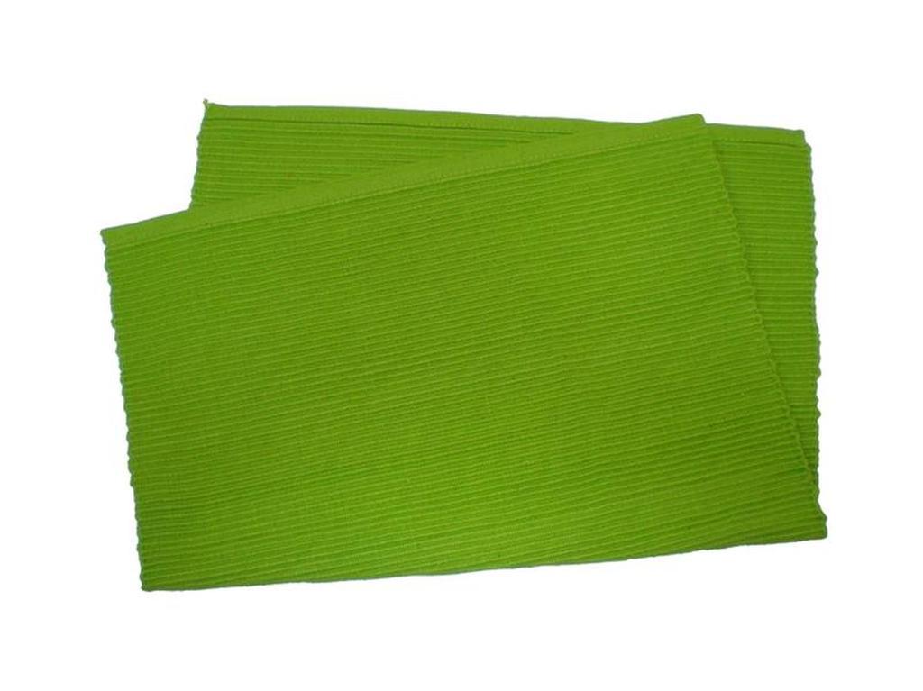 Prostírání žebrovaný profil zelená, 33 x 45 cm