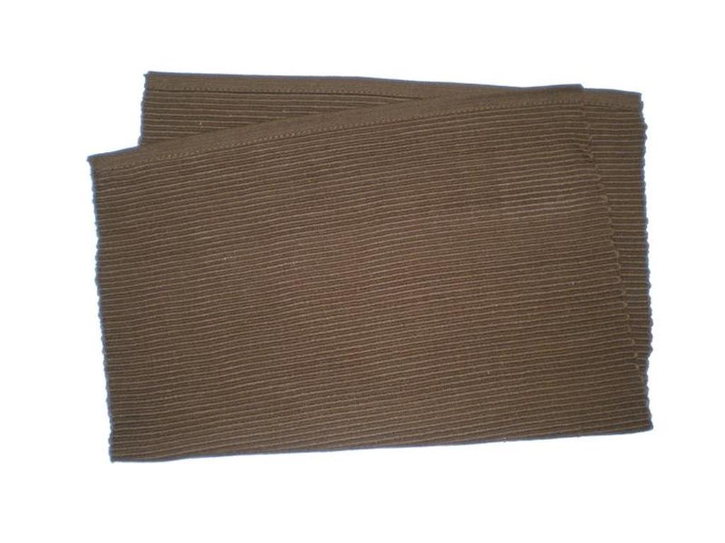 Prostírání žebrovaný profil hnědá, 33 x 45 cm