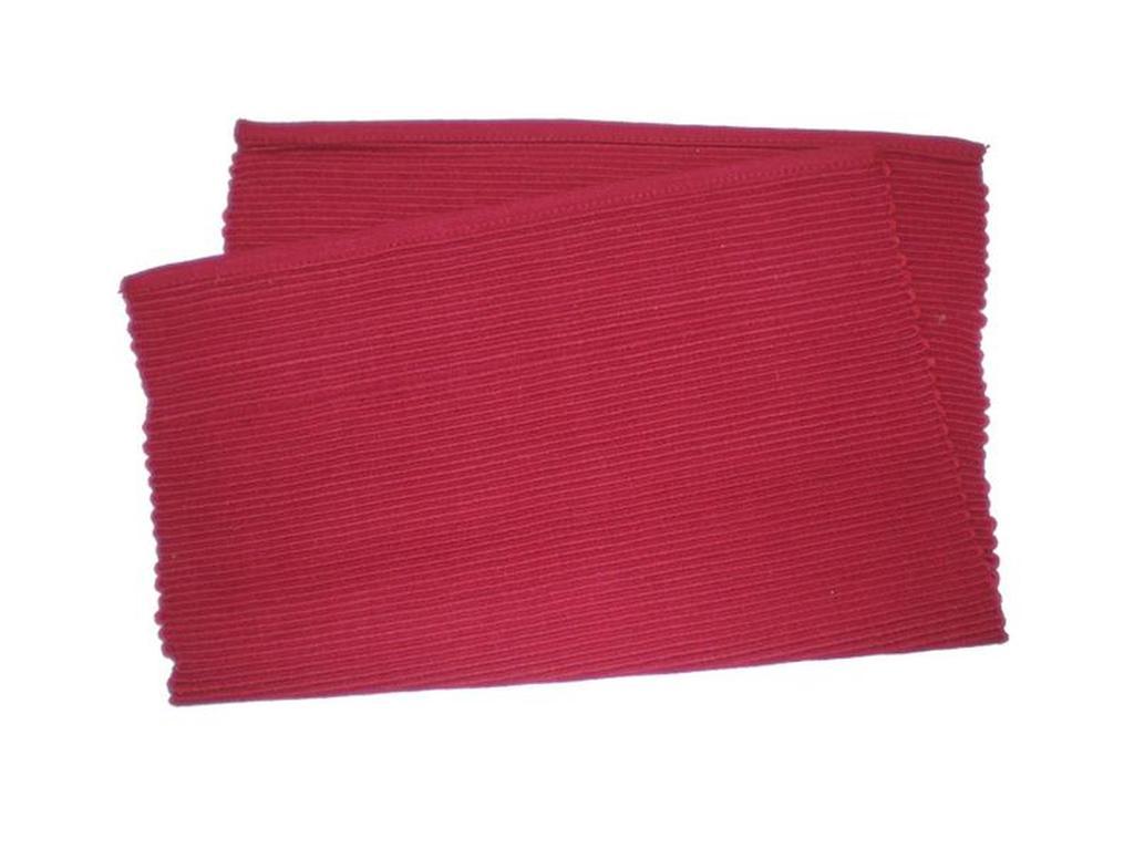 Prostírání žebrovaný profil červená, 33 x 45 cm