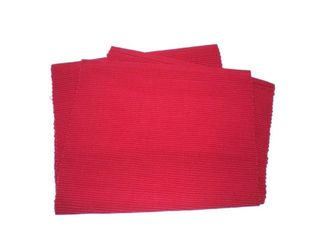 Prostírání žebrový profil červený, 33 x 120 cm