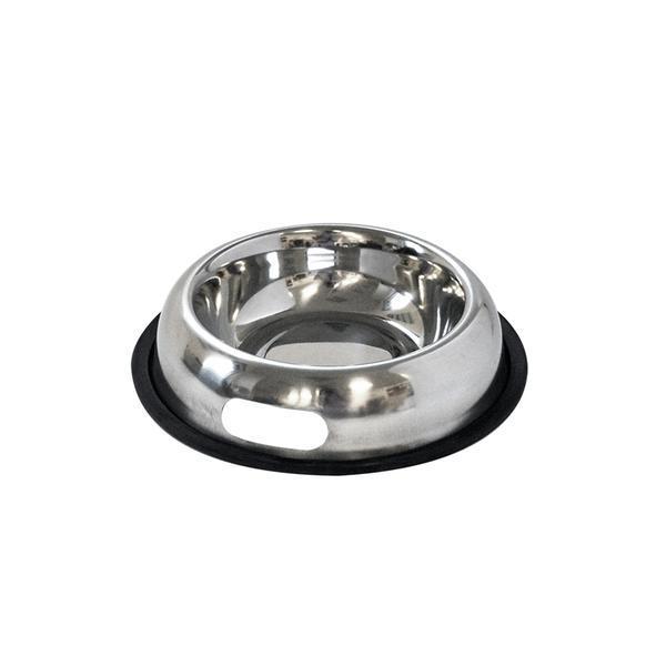 Miska pro zvířata s protiskluzovou gumou, nerez, 18 cm