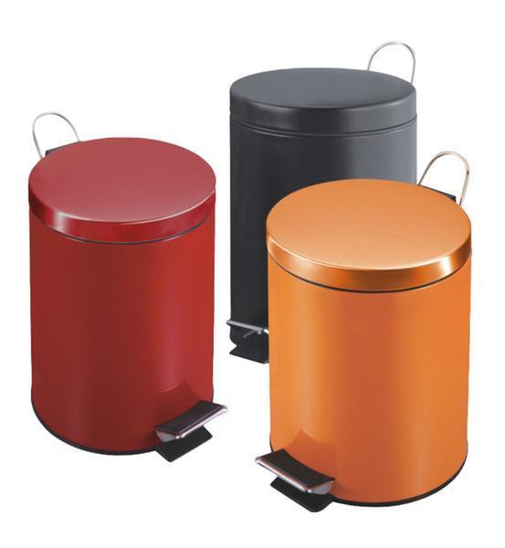 Koš na odpadky červený, objem 5 l, 20,5 x 27 cm