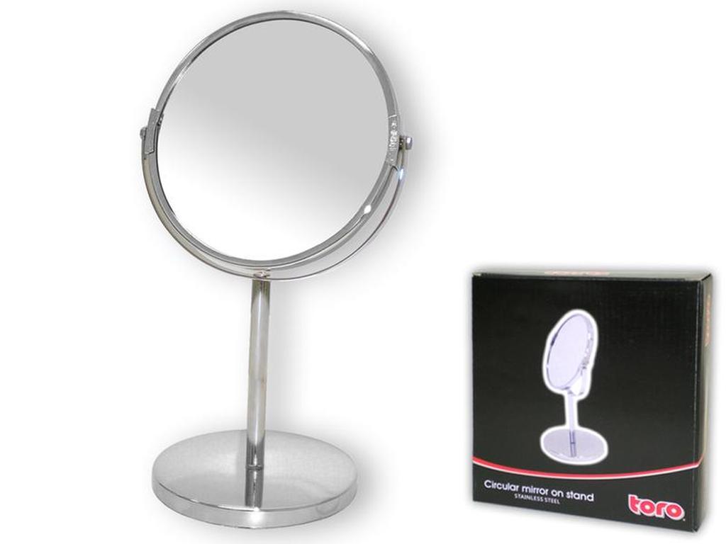 zrcadlo kulaté na stojanu