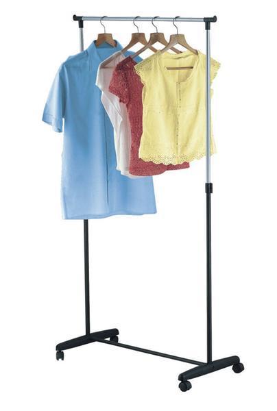 Věšák na prádlo chrom, 88,5 x 42,5 x (98 - 166) cm