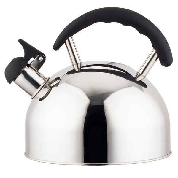 Nerezová konvice na čaj 2 l s černou plastovou rukojetí