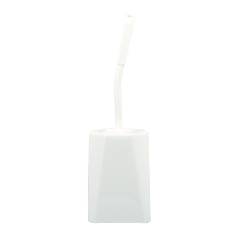 štětka s wc miskou bílá, 40 x 12,5 x 12,5 cm