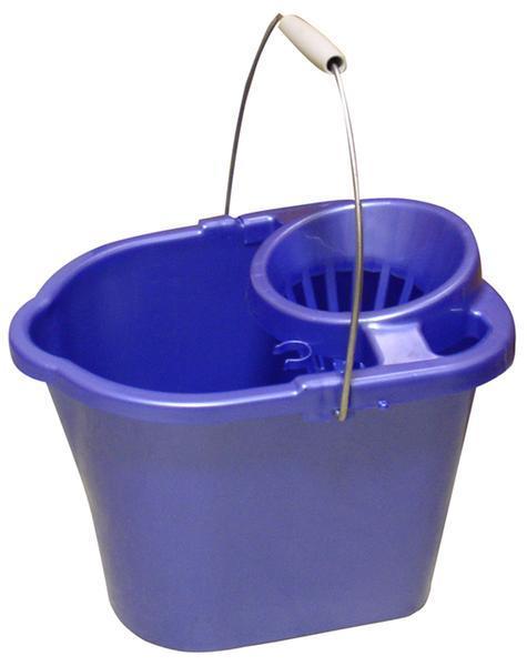 Oválný kbelík se ždímadlem DOMINA 14l - 36 x 28 x 25 cm - tmavě modrá