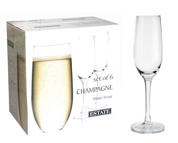 sklenka na šampaňské set 6 ks 4,9 x 22,5 cm