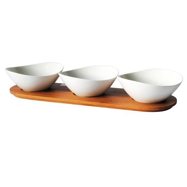 Mísa + bambusový podnos, keramika
