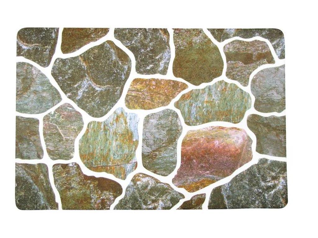 Rohožka polyester a PVC KAMENY, 40 x 60 cm