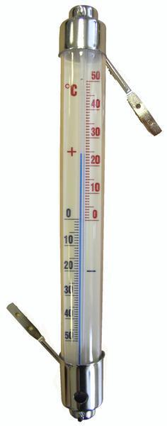 Teploměr venkovní, od - 50 °C do + 50 °C, 2,1 x 20 cm