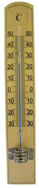 Teploměr pokojový, od - 30 °C do + 50 °C, 20 x 3,1 x 0,8 cm