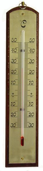 Teploměr pokojový 2 designy, od - 30°C do + 50°C, 21 x 4,5 x 0,8 cm