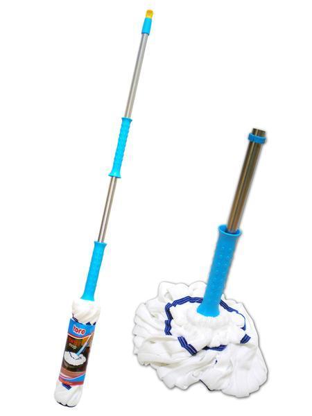Mop na podlahu s tyčí TWIST, 130 cm