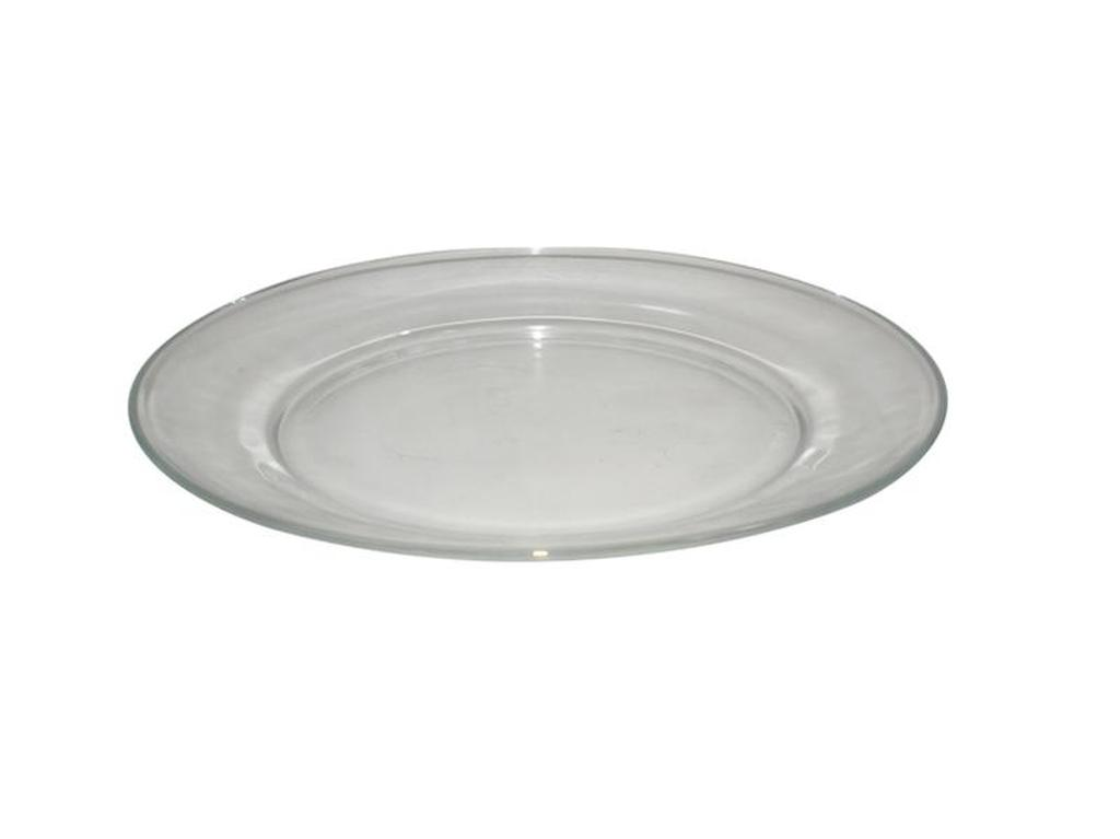talíř dezertní 19 x 1,9 cm sklo čirá