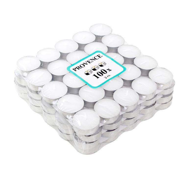 Čajová svíčka 100 ks bílá, 4 x 1, 4 cm